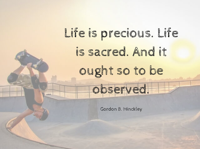 Life Is Precious Life Is Sacred And It Ought So To Be Observed
